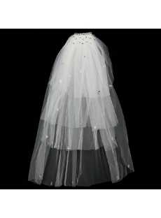 Diamond 4 Layers Wedding Veils