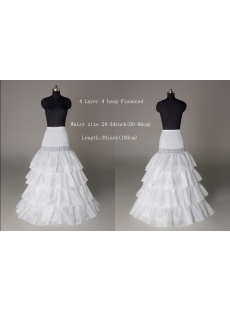 Discount 4 Layers Drop Waist Wedding Dress Petticoats