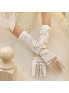 Discount Tradition Wedding Gloves with Flowers