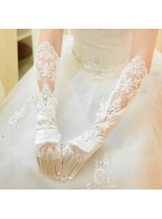 Elegant Elbow Length Lace Wedding Gloves