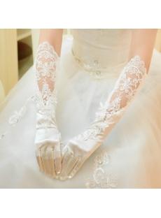 Elegant Elbow Length Lace Wedding Gloves