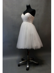 Exquisite Ivory Sweetheart Short Sweet 16 Gown with Corset