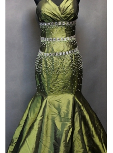 Exquisite Olive Green Mermaid Celebrity Dresses