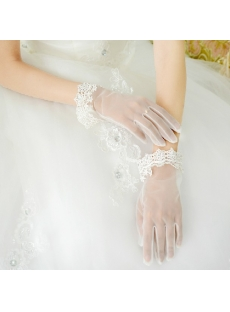 Exquisite Short Wedding Gloves