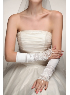 Fingerless Middle Length Wedding Gloves