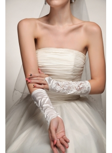 Fingerless Wedding Gloves with Pearls
