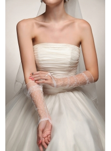 Fingerless Western Wedding Gloves