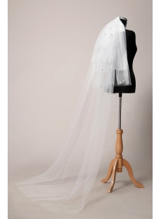 Jeweled 4 Layers Cathedral Bridal Veils