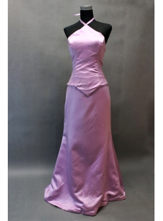 Lilac A-line Halter Mock 2 Piece East Prom Dress