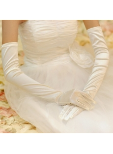 Long Fingertips Gloves Wedding for Winter