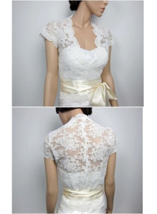 Luxurious Cap Sleeves Lace Wedding Jacket