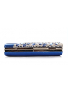 Luxurious Jeweled Peacock Evening Clutch