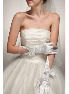 Modern Wedding Gloves with Bow