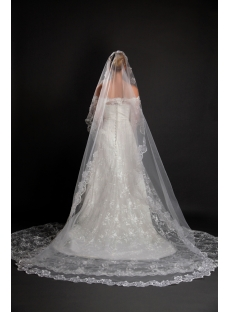 On Sale 1 Layer Cathedral Length Wedding Veil
