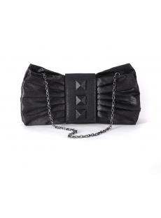 Romantic Bow Black Cocktail Party Handbag