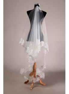 Romantic Lace Finger-tip Bridal Veil