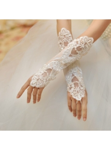 Sexy Beaded Fingerless Gloves for Wedding