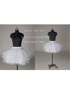 Short Puffy Cocktail Dress Petticoats