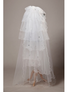 Stunning Floor Length Bridal Veil