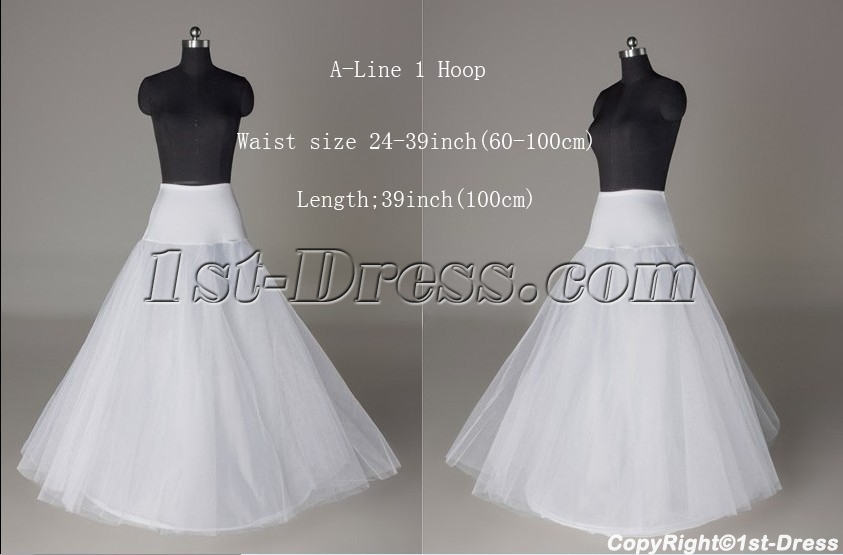 A Line 1 Hoop Petticoat For Bridal Gowns1st Dress