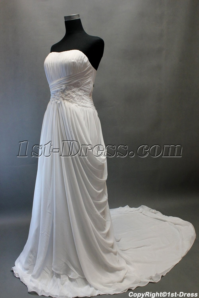 Beach sweetheart chiffon bridal gown for mature 1st for Beach wedding dresses for older brides