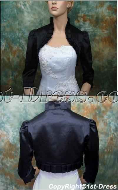 images/201402/big/Black-3-4-Long-Sleeves-Satin-Short-Bridal-Jacket-4348-b-1-1391621230.jpg