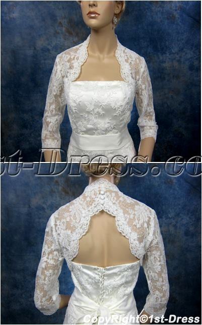 images/201402/big/Modern-Lace-3-4-Long-Sleeves-Short-Bridal-Jacket-4356-b-1-1391623885.jpg