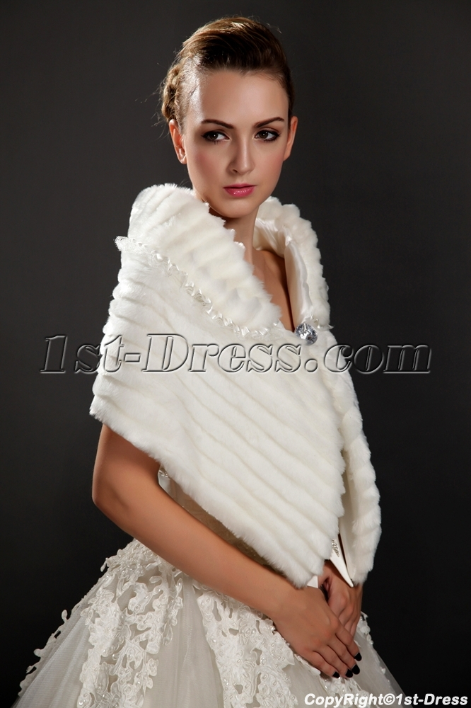 Wedding fur shawls wraps for winter 1st for Shawls for wedding dresses