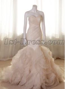 Charming Champange Mermaid Bridal Gowns
