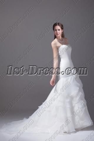 Beautiful Strapless Mermaid Bridal Gown 2015