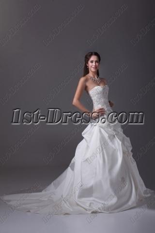 Best Satin 2015 Wedding Dress Aline