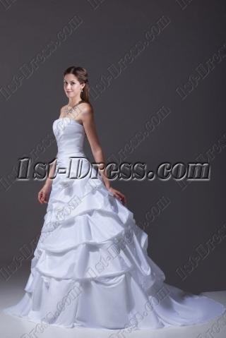 Best Strapless Taffeta 2015 Wedding Dress