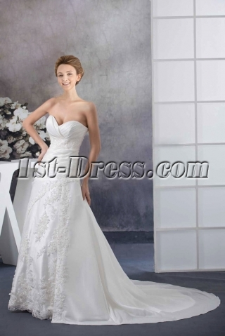 Charming Sweetheart 2015 Wedding Gown
