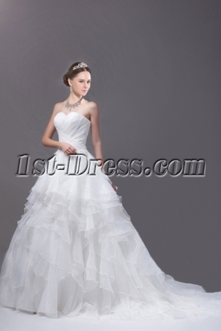 White Sweetheart 2015 Spring Ball Gown Wedding Gown