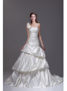 Best One Shoulder Wedding Dress 2015 Spring