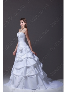 Best Strapless Taffeta 2015 Wedding Dress