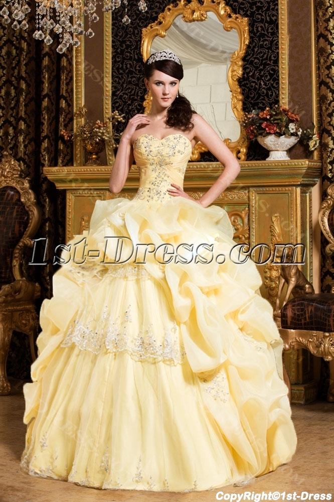 Corn Yellow 15 Quinceanera Dresses 2012 1st Dress Com