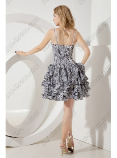 Lovely Short Zebra Quinceanera Gown with Straps
