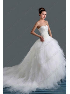 Beautiful Strapless Ball Gown Wedding Dresses 2015