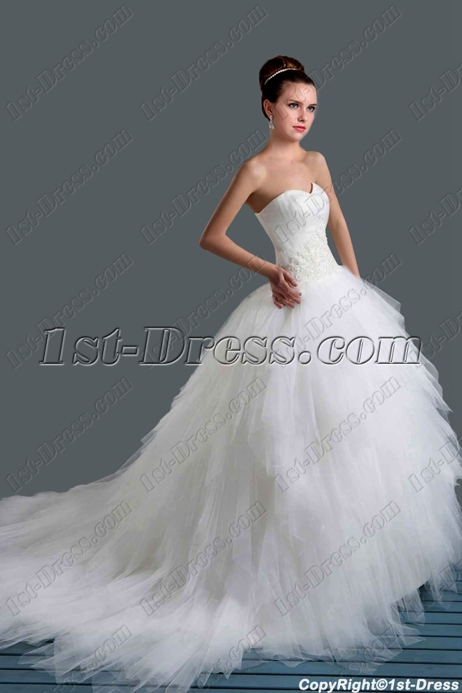 Beautiful Strapless Ball Gown Wedding Dresses 2015 1st