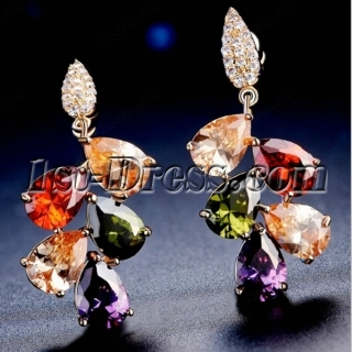 Colorful Zircon Earring