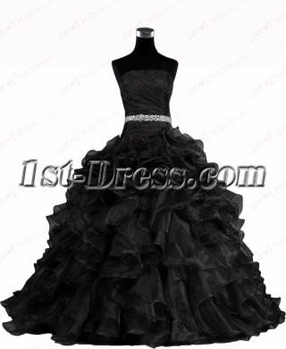 Pretty Black 2016 Wedding Dresses