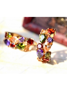 Pretty Colorful Zircon Earring