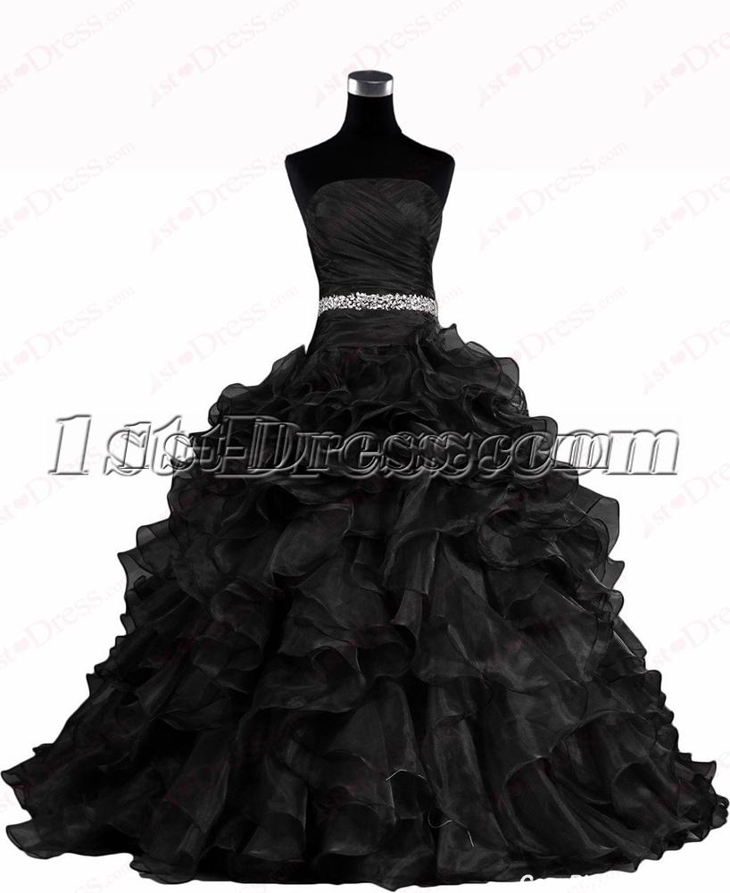 Pretty Black 2016 Wedding Dresses:1st-dress.com
