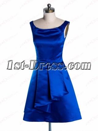Modest Sleeveless Scoop Neckline Short Prom Dress