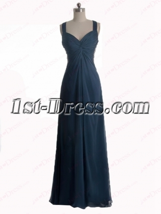 Sexy Navy Blue Pretty Prom Dresses