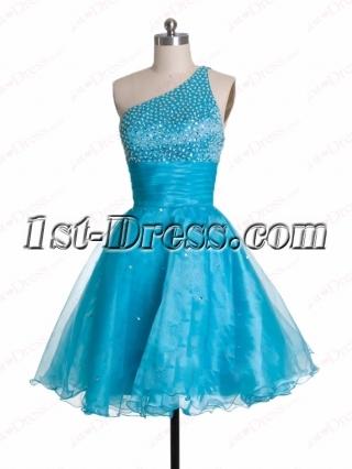 Sweet One Shoulder Cocktail Dress