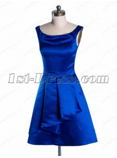 Modest Sleeveless Scoop Neckline Short Prom Dress