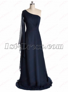Romantic Long Sleeve Prom Gown