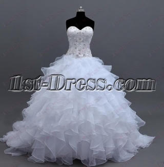 2016 Ball Gown Wedding Dress with Lace